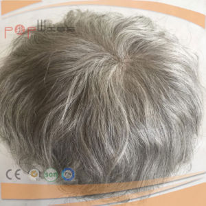 Gray Human Hair Qualtiy Mens Toupee (PPG-c-0105) pictures & photos