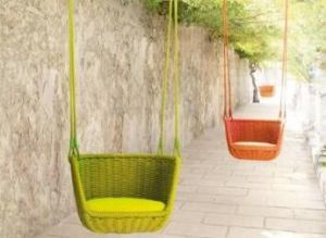 Small Hanging Aluminum Chair with