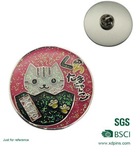 Promotional Metal Soft Enamel Hello Kitty Lapel Pin with Epoxy pictures & photos