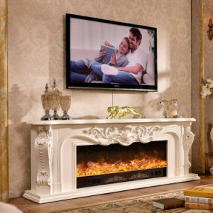 Antique Furniture TV Stand Heating Electric Fireplace with Ce (325S) pictures & photos