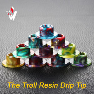 2017 Vivismoke Resin Drip Tip for Wotofo The Troll Rda Epoxy Resin Drip The Troll