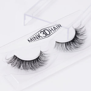 100% Natural Mink Hair Lashes Realistic Thick Super Soft False Eyelashes 3D Animal Eyelashes pictures & photos