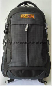 Simple Design Multi-Functional Nylon Notebook/Computer/for MacBook Backpack Bag, Black Practical Oudoor Travel Laptop Backpack