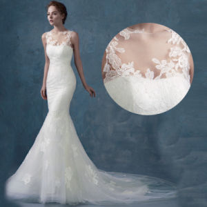 Factory Sale High Quality Lace Strapless Custom Wedding Bridal Dress pictures & photos