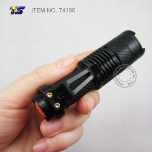 Pocket Size Zoomable 3 Watt LED Flashlight (T4196) pictures & photos