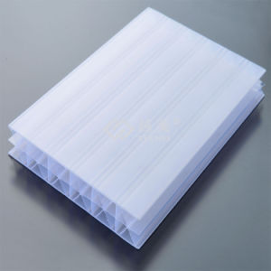 UV Coating Opal White Triple Wall Polycarbonate Sheet Ym-PC-115 pictures & photos