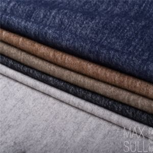 Wool/Cotton Fabric for Autumu or Winter Coat in Navy pictures & photos