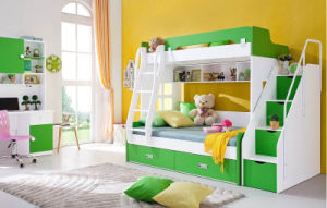 Children Furniture Wooden Bunk Bed with Bookcase (HC803) pictures & photos