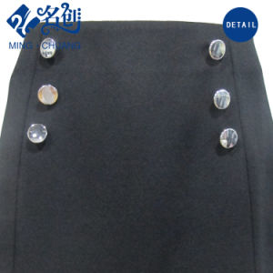 Newstyle Black A-Line Double-Breasted Rear-Zipper Short Fashion Women Skirt pictures & photos