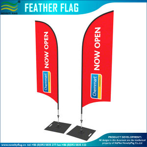 Fast Delivery for Customized Flying Beach Flags (A-NF04F06057) pictures & photos