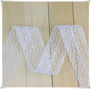4.5 Cm White Embroidery Mesh Lace Trim for Underwear pictures & photos