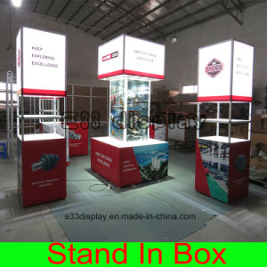 Custom Easy Assembling Portable Modular Trade Show Display Booth with Lightboxes pictures & photos