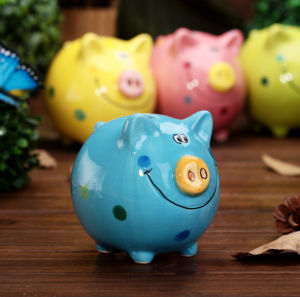 Piggy Bank Style Ceramic Money Box Personalised Any Name or Short Message pictures & photos
