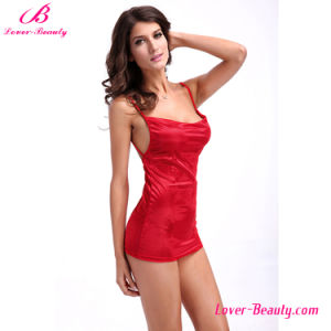 Romantic Short Red Nightwear pictures & photos