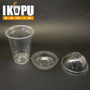 9oz 10oz 12oz Pet Disposable Cups with Lid for Juice Yogurt Milkshake pictures & photos