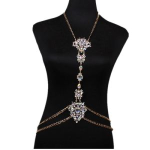 Fashion Metal Chain Designer Colorful Rhinestone Diamond Chain Body Jewelry pictures & photos