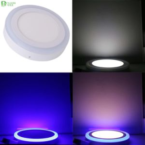 9W Double Color Surface Mounted Round Panel Lightings pictures & photos