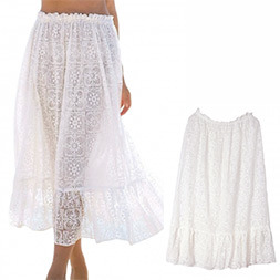 Fashion Women Sexy See-Through Lace Pleated Skirt pictures & photos