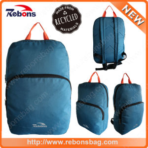 Portable Water Resistant Folding Retro Rucksack Bag RPET Backpacks Made From Recycled Pet Fabric pictures & photos