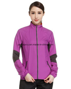 Drying Quickly Windbreaker Female Long-Sleeved Sport Casual Jacket pictures & photos