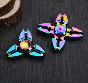4 Sided Zinc Alloy Colorful Rainbow Crab Claw Hand Spinner pictures & photos