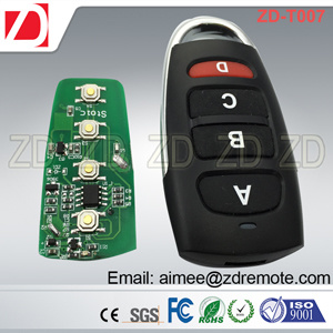 Universal 4 Button Cloning 433MHz Electric Garage Door Remote Control Key Fob pictures & photos