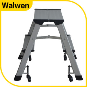 A Shape Folding Household Aluminum Step Stool with Wheels  sc 1 st  Yiwu Walwen Hardware Tools Co. Ltd. & China A Shape Folding Household Aluminum Step Stool with Wheels ... islam-shia.org