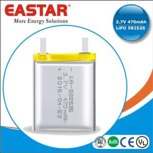 3.7V 470mAh Li Polymer Battery 582535 for Power Tools pictures & photos