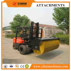 Forklift Attachment Hydraulic Driven Angle Sweeper Broom Attachment for Forklift pictures & photos