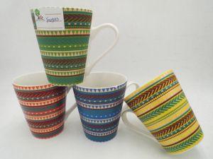 Matte Surface with Stripe Ceramic Mug pictures & photos