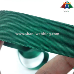 23mm Light Weight Tiny Twill Weave Lines Forest Green Polyester Webbing Tape pictures & photos