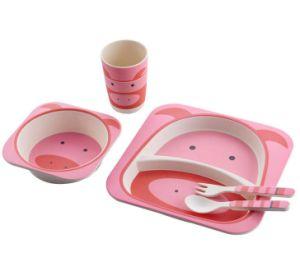 BPA Free Eco Bamboo Fiber Kids Dinner Set (YK-KS001) pictures & photos