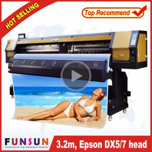 High Quality Funsunjet Fs-3202g 3.2m/10FT Outdoor Wide Format Printer with Two Dx5 Heads 1440dpi for Flex Banners Printing pictures & photos