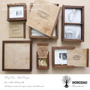 Hongdao Custom Retro Wooden Photo and USB Storage Box Wholesale_D pictures & photos