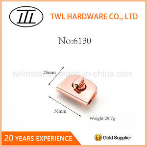Wholesale Rose Gold Bag Accessories Turn Lock Twist Lock for Bags pictures & photos