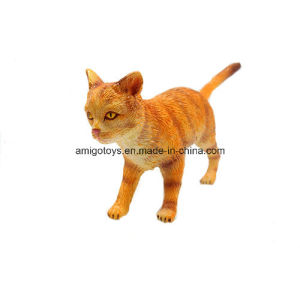 New Plastic Tabby Cat Toys in Plastic Filled with Cotton pictures & photos