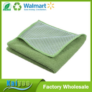 Assorted Color Microfiber Kitchen Cleaning Cloths with Poly Scour Side pictures & photos
