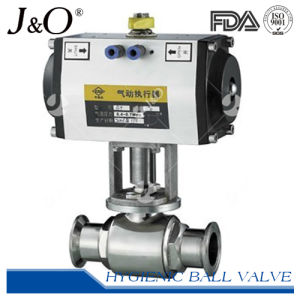 2016 New Design Pneumatic Sanitary 2 Way Ball Valve pictures & photos