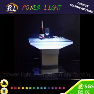 Lounge Furniture Outdoor Color Changing LED Square Table pictures & photos