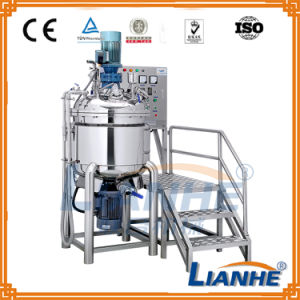 Cosmetic/Liquid/Cream/Chemical Emulsifying Mixing Tank with Homogenizer pictures & photos