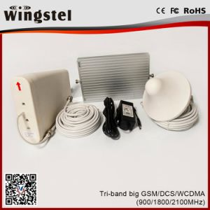 110V-240V 900/1800/2100MHz GSM/Dcs/WCDMA Cell Phone Signal Amplifier Set for Office pictures & photos