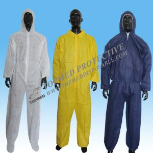 Microporous Coverall Working Uniform, Waterproof Disposable Coverall with Hood pictures & photos