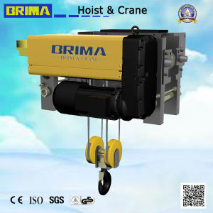 Brima Good Quality 10ton Low Headroom Single Girder Electric Wire Rope Hoist pictures & photos