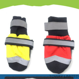 Quality Polyester Oxford Waterproof Reflective Anti Slid Pet Rain Boots pictures & photos