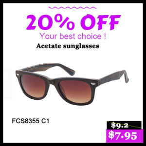 New Trendy Colorful Acetate Sunglasses for Lady pictures & photos