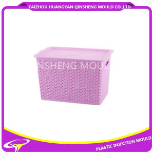 Plastic Rattan Laundry Basket Injection Basket Mold for Hotel pictures & photos