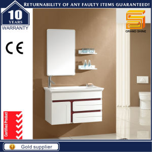 High Gloss White Floor Standing Bathroom Cabinet Unit with LED pictures & photos