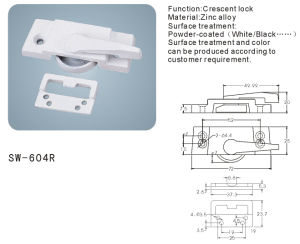 Crescent Lock for Window and Door Hardware Accessories (SW-604R) pictures & photos