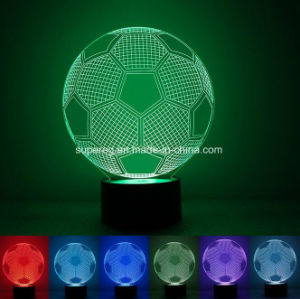 New Lighting Arrival 3D Illusion LED Soccer Shape Lamp pictures & photos