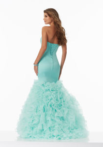 2017 Mermaid Ruffle Prom Party Bridesmaid Evening Dresses ED1701 pictures & photos